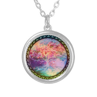 Tree of Life Tranquility Round Pendant Necklace