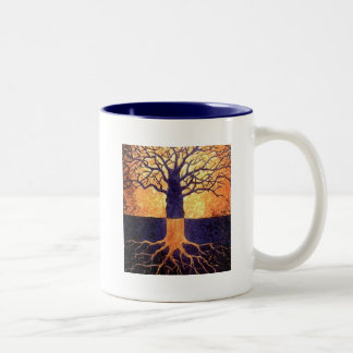 Tree of life two tone mug