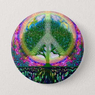 Tree of Life Unity and Peace 7.5 Cm Round Badge
