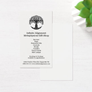 Tree of Life Vertical Spiritual Gift Shop Business Card