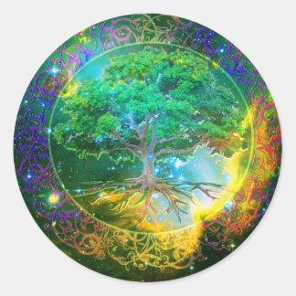 Tree of Life Wellness Classic Round Sticker
