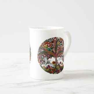 tree of life white tea cup