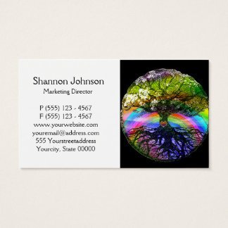 Tree of Life with Rainbow Heart Business Card
