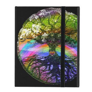 Tree of Life with Rainbow Heart iPad Folio Case