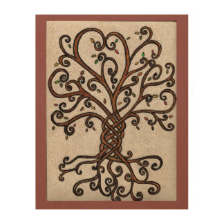 Tree of Life Wood Art Print Wood Prints