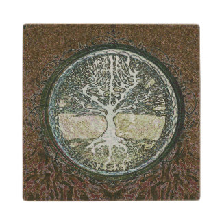 Tree of Life Wood Coaster