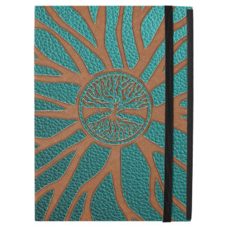 "Tree of life  -Yggdrasil  - Embossed Faux Leather iPad Pro 12.9"" Case"