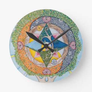 Tree of Self Compassion Wall Clock