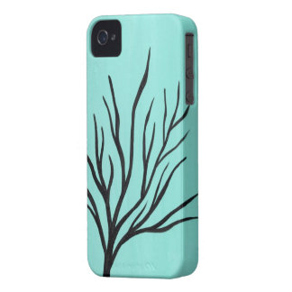 Tree on Mint Background Design iPhone 4 Case