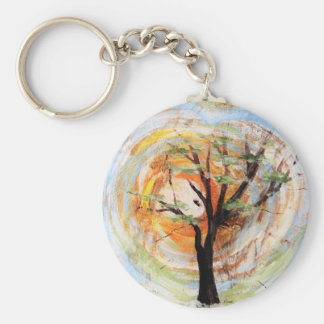 Tree on Tree Key Ring