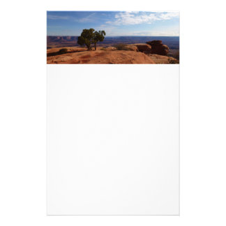 Tree Out of Red Rocks at Canyonlands National Park Personalized Stationery