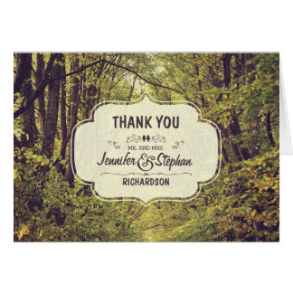 Tree Park - Tree Avenue Wedding Thank You Note Card