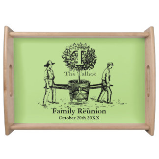 Tree Personalized Family Reunion Serving Tray