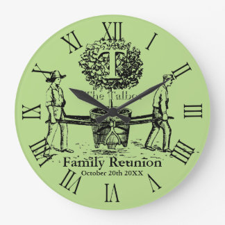 Tree Personalized Family Reunion Wall Clock