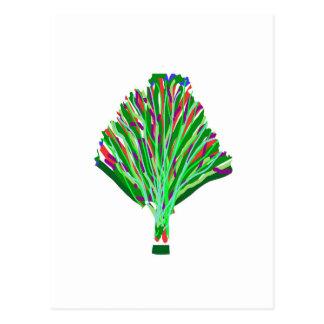 TREE Plant Green Joy Artistic Giveaway Novelty Postcard