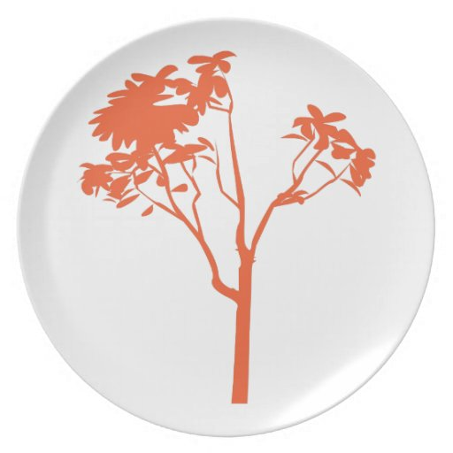 Tree Plant Dinner Plate