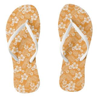 Tree Poppy Orange Hawaiian Flip Flops