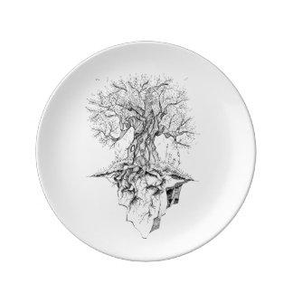 Tree Porcelain Plates