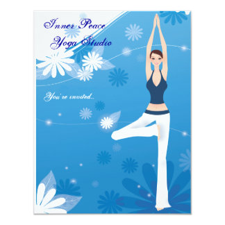 Tree Pose Yoga Stationery Card Personalized Invita 11 Cm X 14 Cm Invitation Card