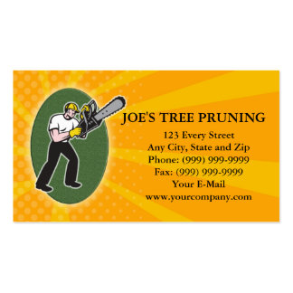 Tree Pruner Tree Surgeon Arborist Business Card Pack Of Standard Business Cards