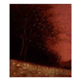 Tree - Red variation 11 Poster