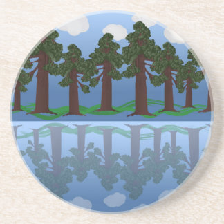 tree reflection drink coasters