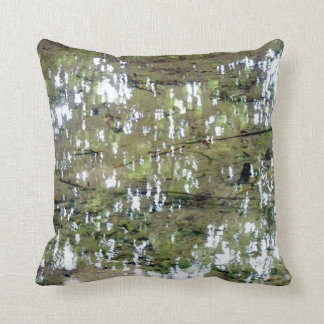 Tree Reflections In Water Throw Pillow