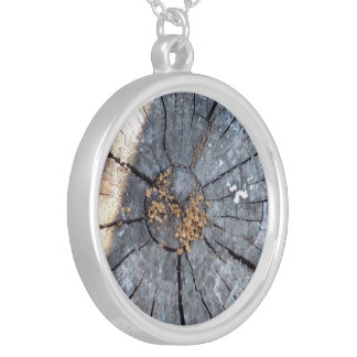Tree Ring Silver Plated Necklace