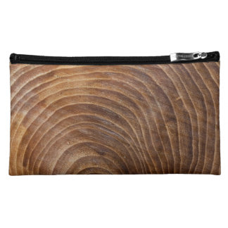Tree rings cosmetic bag