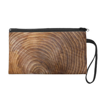 Tree rings wristlet purses