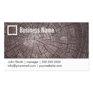 Tree Rings Close-up Photography Business Card