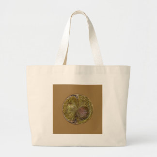 Tree Rings in a Globe in abstract Canvas Bag