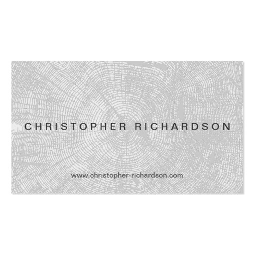 TREE RINGS in LT GRAY Modern Business Card
