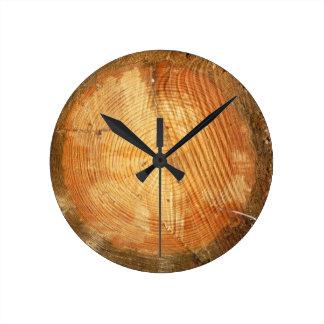 TREE RINGS | natural wood log Round Clock