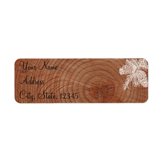 Tree Rings Rustic Country Wedding Label