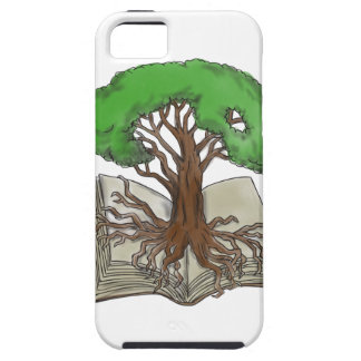 Tree Rooted on Book Tattoo iPhone 5 Covers