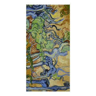 Tree roots, trunks, Vincent van Gogh, customise Poster