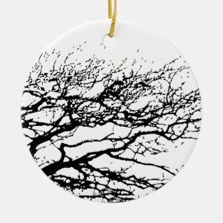 tree round ceramic decoration