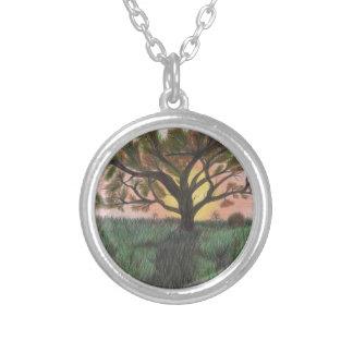 Tree Round Pendant Necklace