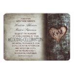 Tree rustic wedding invitations