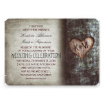 Tree rustic wedding invitations cards
