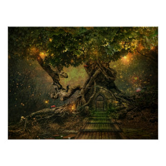 tree scape poster