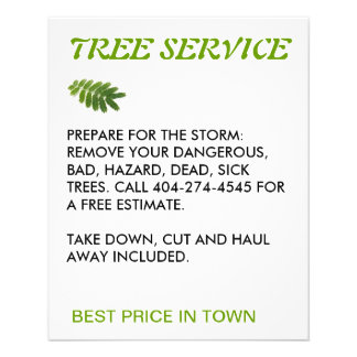 tree service 11.5 cm x 14 cm flyer