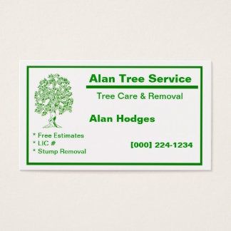 24 tree removal business cards and tree removal business for Tree removal business cards