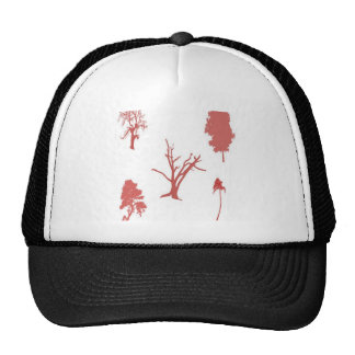 Tree set design mesh hat