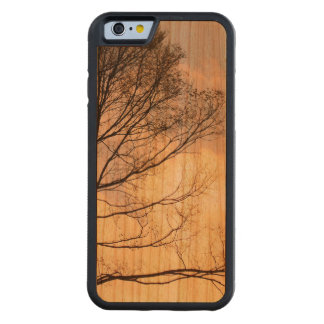 Tree Shadow on Wood Grain Cherry iPhone 6 Bumper Case