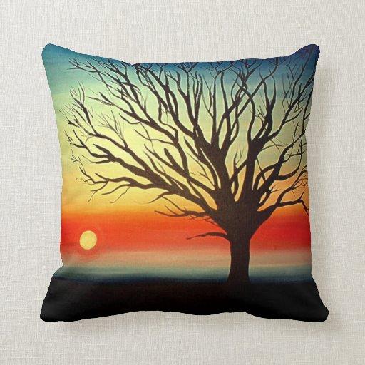 Tree Silhouette Designer American MoJo Pillows