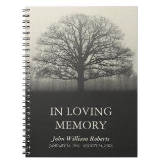Tree Silhouette In Loving Memory Guestbook Notebook