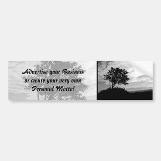 Tree Silhouette Monochrome Bumper Sticker