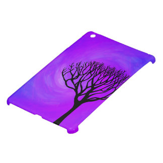 Tree Silhouette (Northern Lights) Cover For The iPad Mini